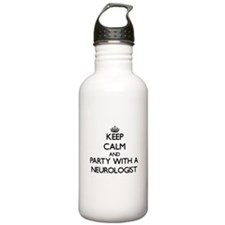Keep Calm and Party With a Neurologist Water Bottl