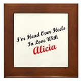 In Love with Alicia Framed Tile