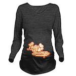 Love Bump Orange Long Sleeve Maternity T-Shirt