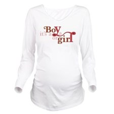 Red Boy or Girl Long Sleeve Maternity T-Shirt