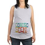 Bouncy Coming Soon Maternity Tank Top