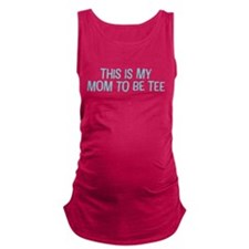 Cotton Mom To Be Tee Maternity Tank Top