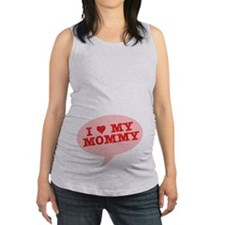 I Heart My Mommy Maternity Tank Top
