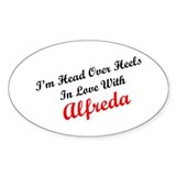 In Love with Alfreda Oval Decal