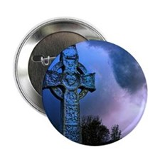 "Celtic Blue 2.25"" Button"
