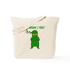 Custom Green Ninja Tote Bag