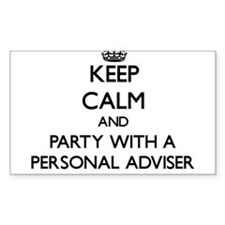 Keep Calm and Party With a Personal Adviser Sticke
