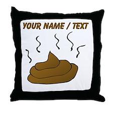 Custom Poop Throw Pillow