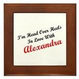 In Love with Alexandra Framed Tile