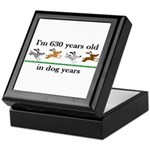 90 dog years birthday 2 Keepsake Box