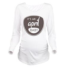 Grey April Long Sleeve Maternity T-Shirt
