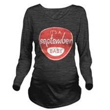 Salmon September Long Sleeve Maternity T-Shirt