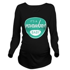 Sea November Long Sleeve Maternity T-Shirt