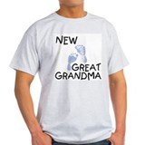 New Great Grandma (blue) Ash Grey T-Shirt