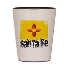 Santa Fe Grunge Flag Shot Glass
