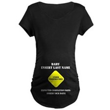 Under Construction Personalize Baby T-Shirt