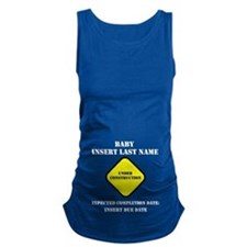 Under Construction Personalize Baby Maternity Tank