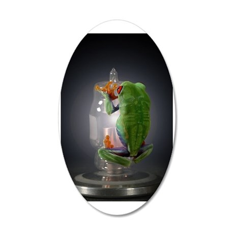 frog 35x21 Oval Wall Decal