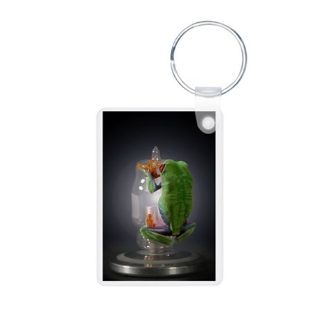 frog Aluminum Photo Keychain