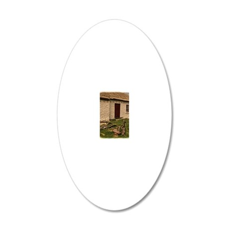 Donegal Cottage 20x12 Oval Wall Decal