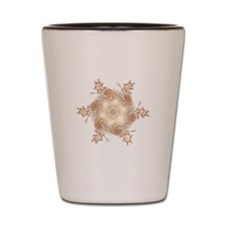 Pastel Peach Floral Dreams Kaleidoscope Shot Glass