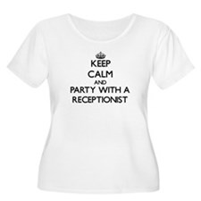 Keep Calm and Party With a Receptionist Plus Size