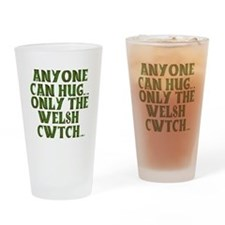 Hug And Cwtch Drinking Glass