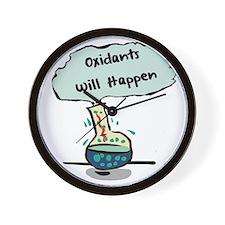 Oxidants Happen - Chemistry Humor Wall Clock