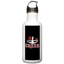 cheer black red Water Bottle