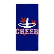 cheer blue red Beach Towel