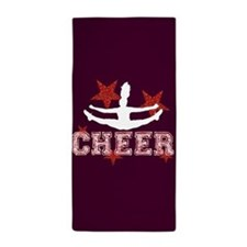 cheer red red Beach Towel