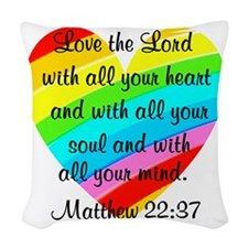 MATTHEW 22:37 Woven Throw Pillow
