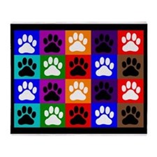 vet tech Paws blanket 1 Throw Blanket