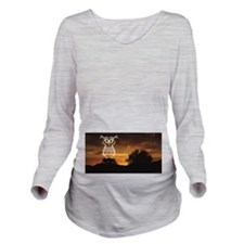Night Owl Long Sleeve Maternity T-Shirt