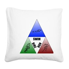 Tri Square Canvas Pillow