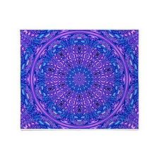 Ripple Effect (Purple) Throw Blanket