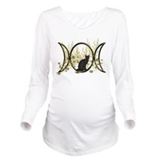Triple Moon Art Series Cat Long Sleeve Maternity T