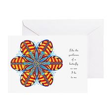 Butterfly Mandala Card w/Msg