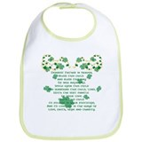 Irish Christening Prayer Bib