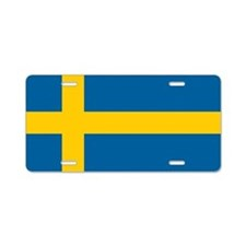 Swedish Flag Aluminum License Plate