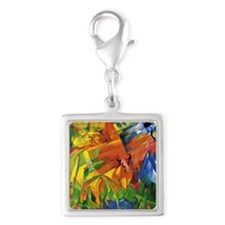 Franz Marc - Animals in a Lan Silver Square Charm
