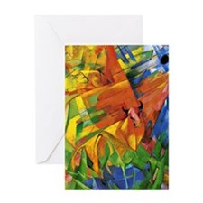 Franz Marc - Animals in a Landscape Greeting Card