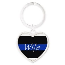Thin Blue Line Wife Keychains