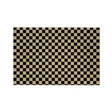Black and gold Checkered Magnets