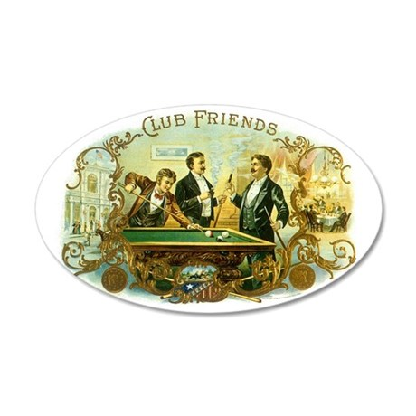 Vintage Cigar Label Art 35x21 Oval Wall Decal