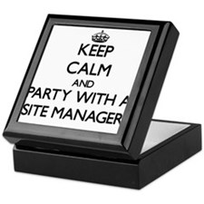 Keep Calm and Party With a Site Manager Keepsake B