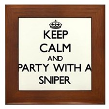 Keep Calm and Party With a Sniper Framed Tile