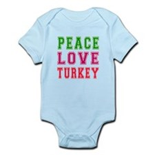 Peace Love Turkey Onesie