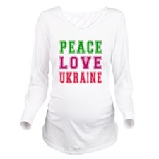 Peace Love Ukraine Long Sleeve Maternity T-Shirt
