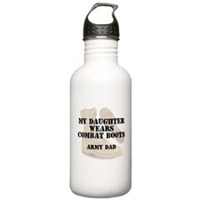 Army Dad Daughter wears DCB Water Bottle